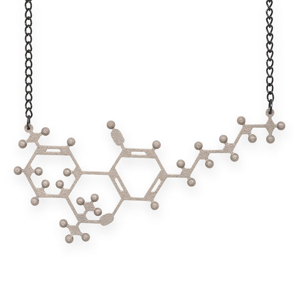 THC molecule necklace - nickel steel