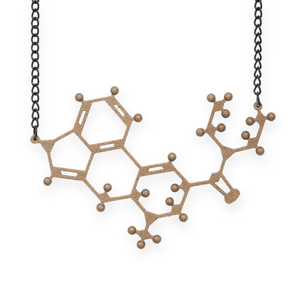 LSD molecule necklace - bronze steel