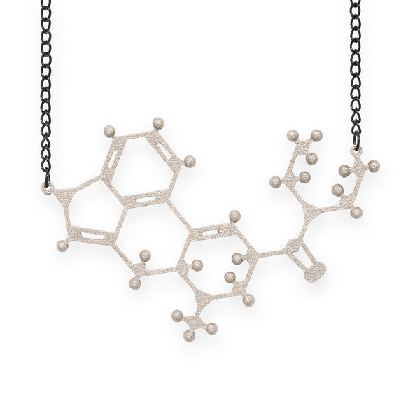 LSD molecule necklace - nickel steel