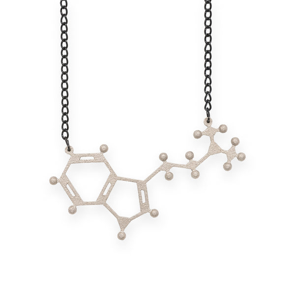 DMT molecule necklace - nickel steel