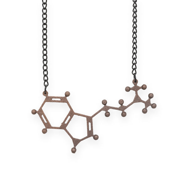 DMT molecule necklace - bronze steel