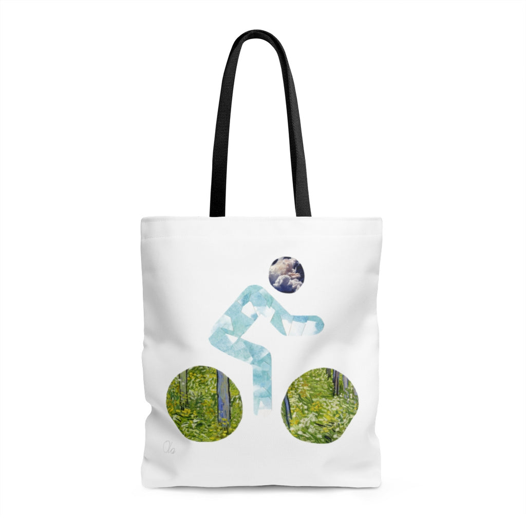 bicycle day clouds tote