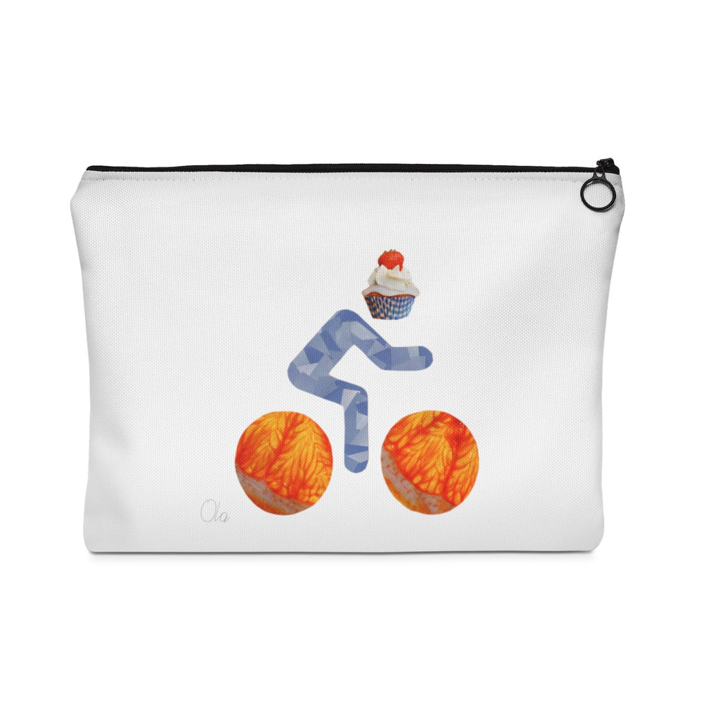 bicycle day cupcake pouch