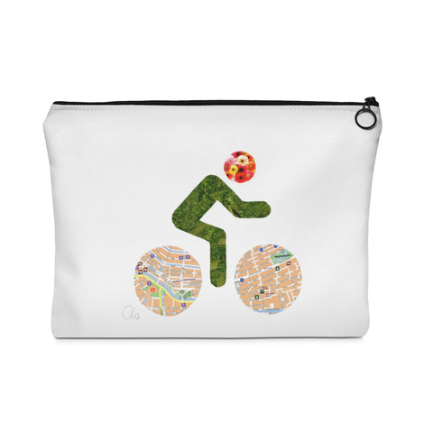 bicycle day flowers pouch