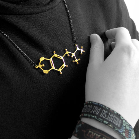 MDMA molecule necklace size