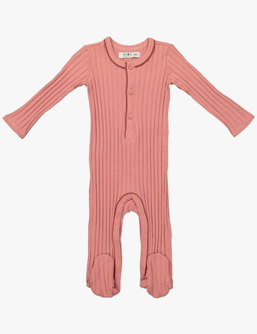 Coco Blanc Ribbed Onesie