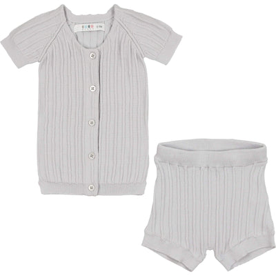 Baby Ribbed Set - CocoBlanc