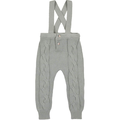 Cabled Long Romper - CocoBlanc