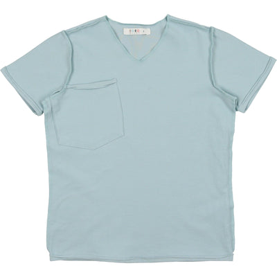 French Terry V-Neck Tee - CocoBlanc