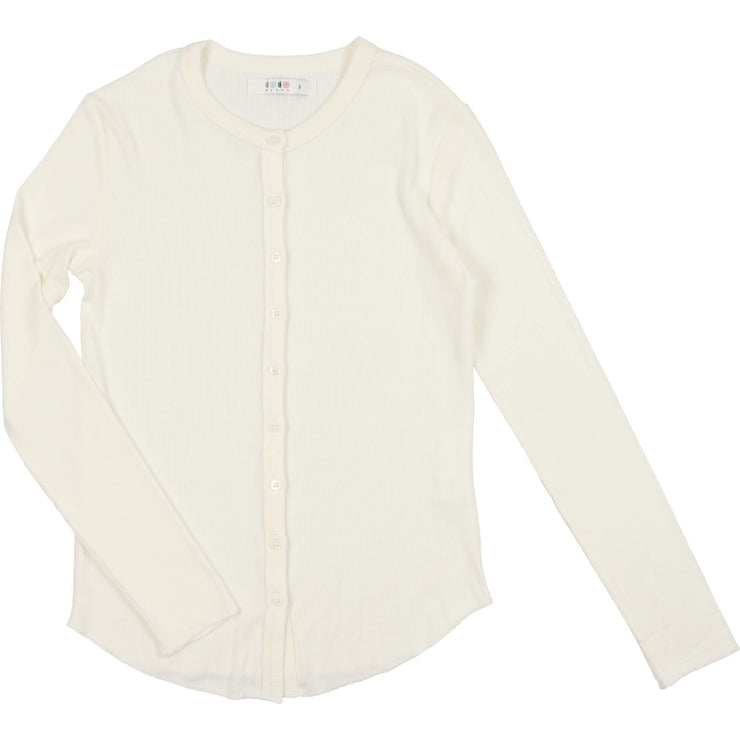 Long Sleeve Ribbed Tee - CocoBlanc