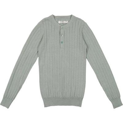 Ribbed Crew Sweater - CocoBlanc