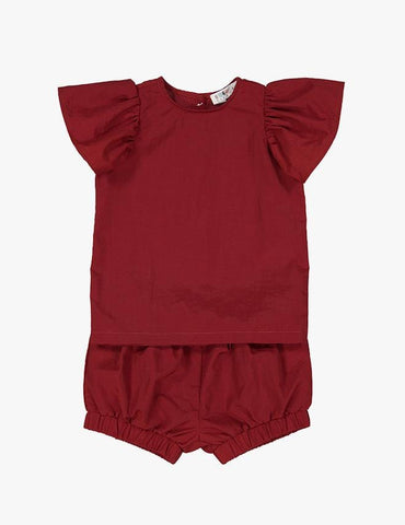 Girls Two Piece Ruffle Set