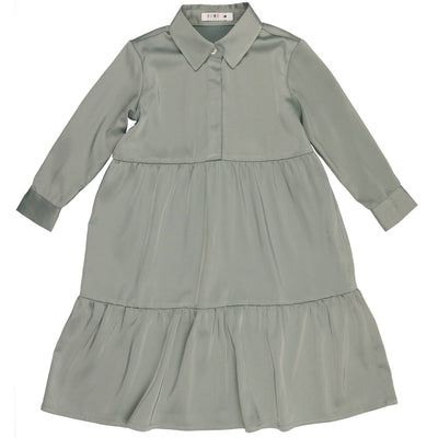 Silky Tiered Dress - CocoBlanc