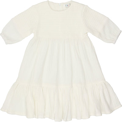 Smocked Dress - CocoBlanc