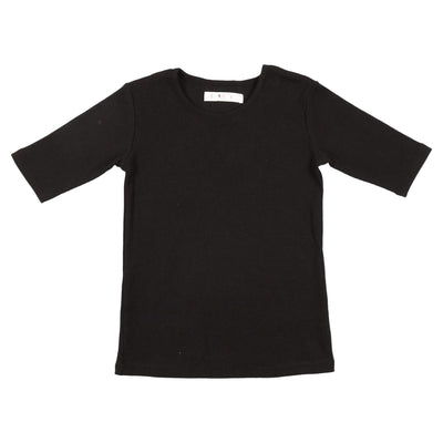 Three Quarter Crewneck Tee - CocoBlanc