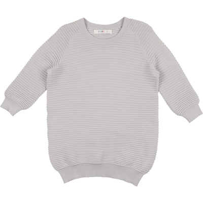 Three Quarter Horizontal Sweater - CocoBlanc
