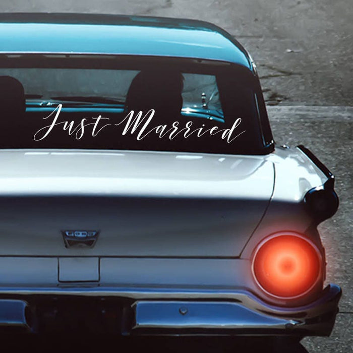 Just Married Getaway Car Sign Decal Send off car sign ideas Just Married Car Decal Just Married Car Sign Just Married Car Decorations - CD2V