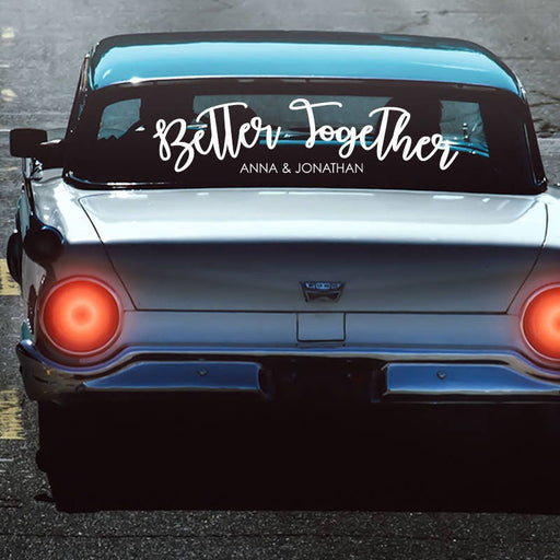 Personalized Better Together Getaway Car Sign Decal, Send off car sign Car Decal custom wedding Car Decorations Just Married car sign - CD4V