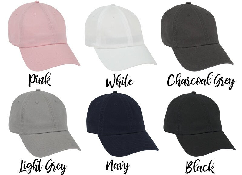 Bachelorette Party hats, garment washed, unstructured, cotton, Dad Hat, Bridesmaid Hats, Bridal party favors, personalized the mrs - DH8HTV