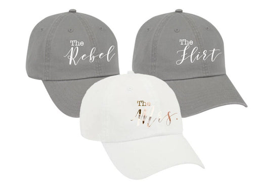 Bachelorette Party hats garment washed unstructured cotton Dad Hat Bridesmaid gift Bridal party favors personalized custom the mrs - DH34HTV
