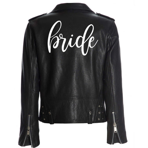 Personalized custom bride iron on decal for leather or denim jacket, mrs heat transfer for clothing, bride, babe, bridal party