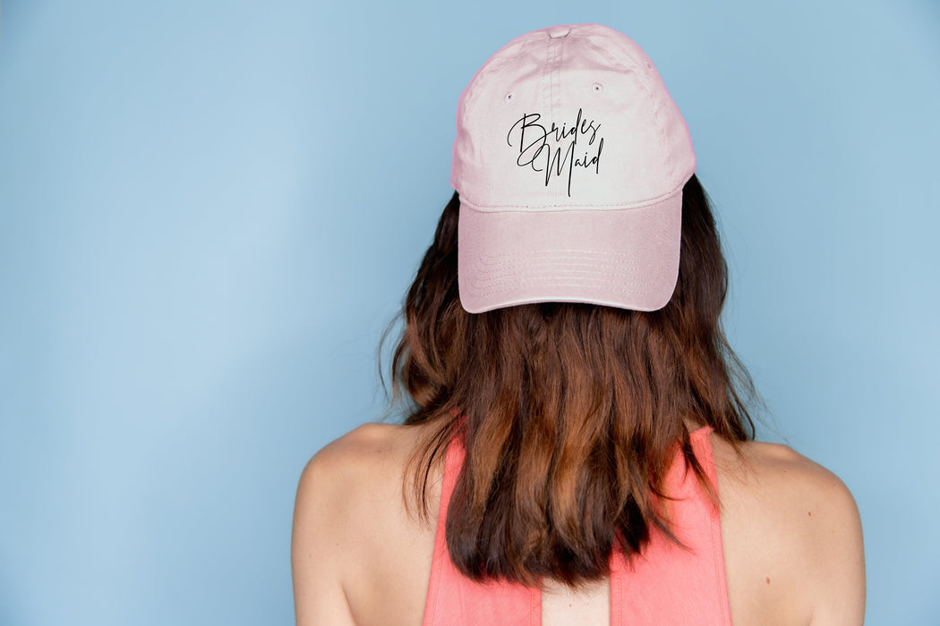 Bachelorette Party hats, garment washed, unstructured, cotton, Dad Hat, Bridesmaid Hats, Bridal party favors, personalized - DH2HTV