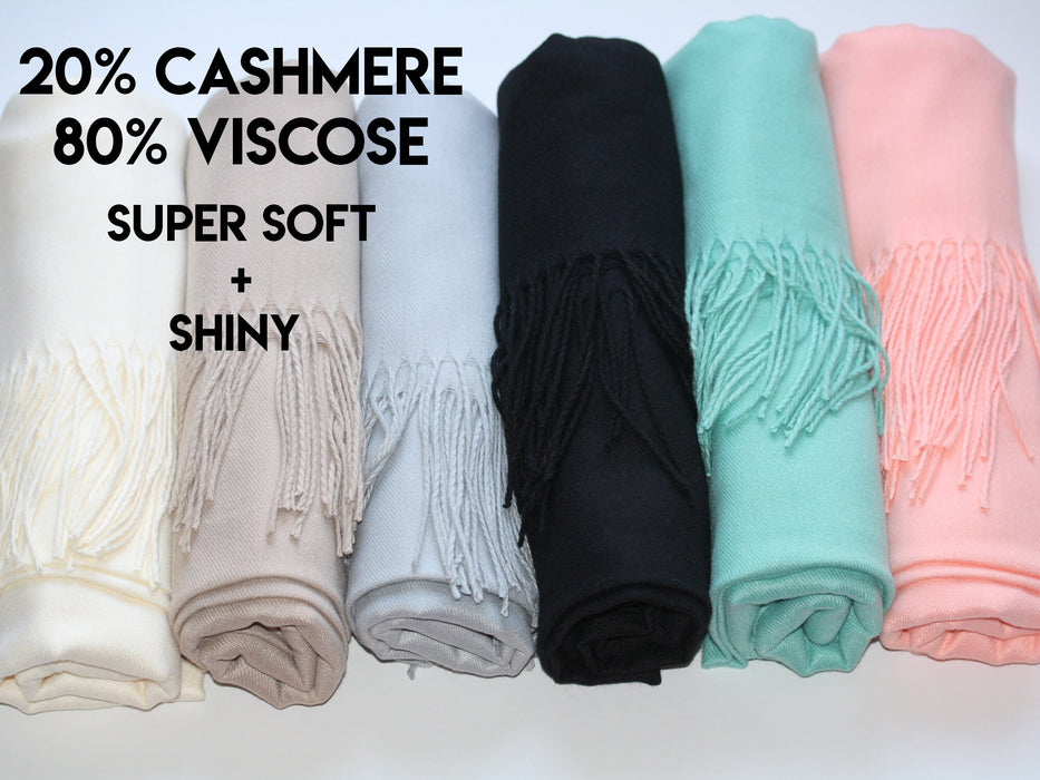 bridesmaid proposal pashmina with personalized band, winter wedding favor shawl, Cashmere scarf gift