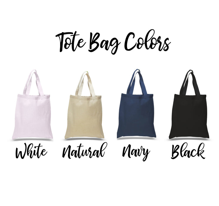 Bridesmaid Bags, Bridesmaid Tote Bags, Bridal Party Gifts, Set of 5 6 7 8 9 10 + get bulk discount
