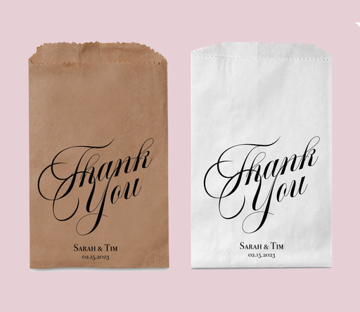 Thank You bags, Wedding Favor Bags, Personalized Treat Bags, Candy Bar Bags, Goodie Bags