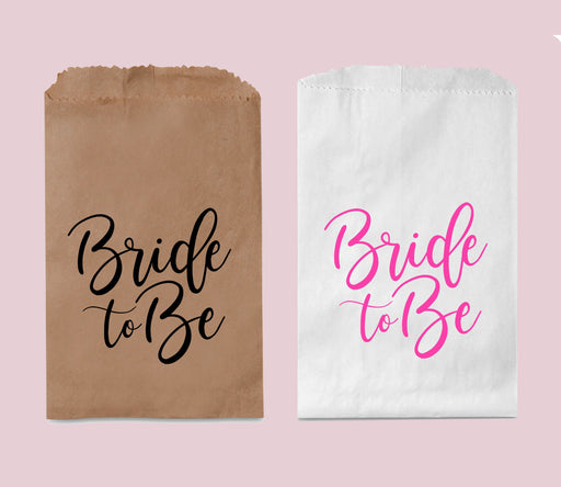 Bridal Shower Favor Bags, Bride to Be Treat Bags, Candy Buffet Bags, Candy Bar Bags, Paper Bag
