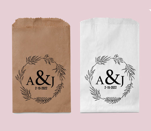 Rustic Wedding Favor Bags, Personalized Treat Bags, Candy Bar Bags, Goodie Bags, Candy Buffet Bags