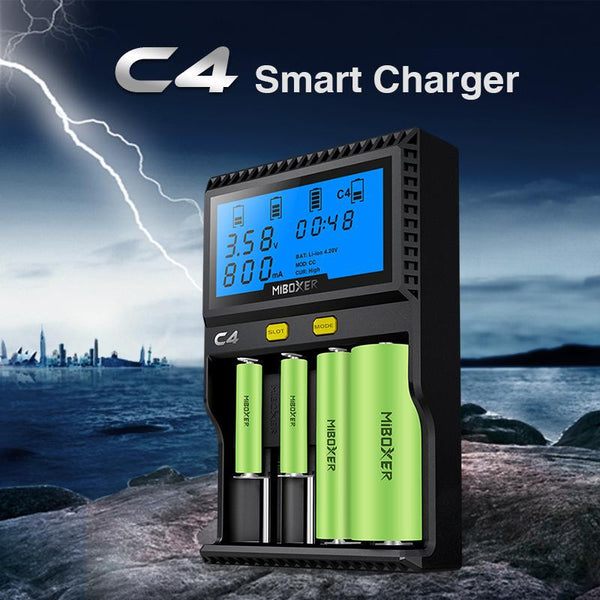 Accessory - Battery Charger For Li-ion 18650 14500 26650 AAA 3.7 1.2V 1.5V Batteries