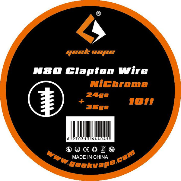 Accessory - Original GeekVape N80 Fused Clapton Wire(24ga+36ga) For Electronic Cigarette Tank Vape Accesorry
