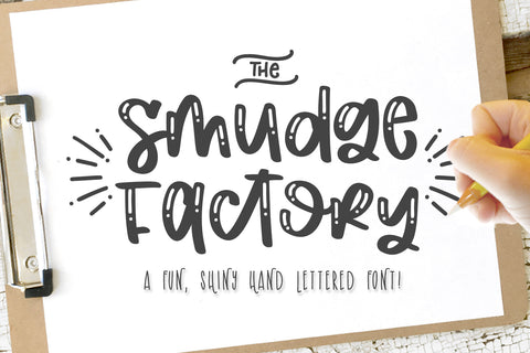 The Smudge Factory Font