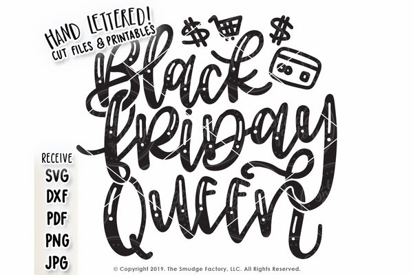 Black Friday Queen SVG & Printable