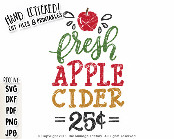 Fresh Apple Cider SVG & Printable