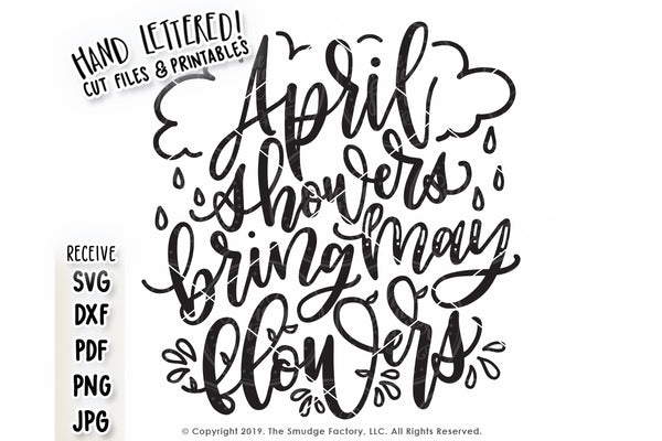 April Showers Bring May Flowers SVG & Printable