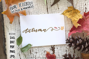 Autumn SVG & Printable