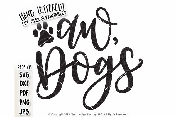 Aw, Dogs SVG & Printable