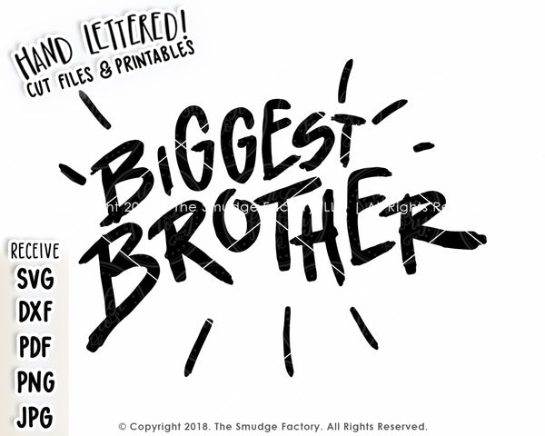 Biggest Brother SVG & Printable