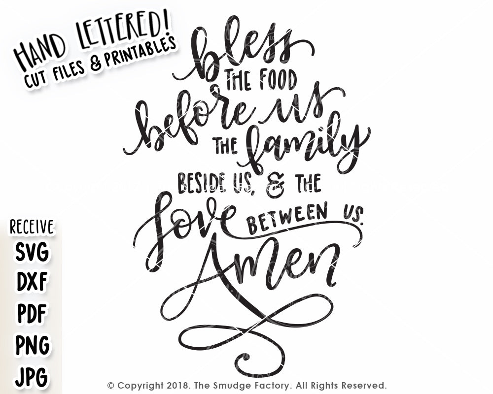 picture regarding Bless the Food Before Us Printable named Bless The Food stuff Prior to Us SVG Printable