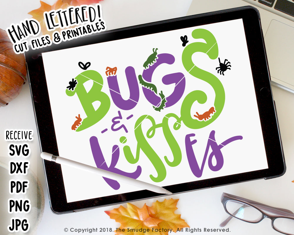 graphic regarding Bugs and Kisses Printable named Insects Kisses SVG Printable