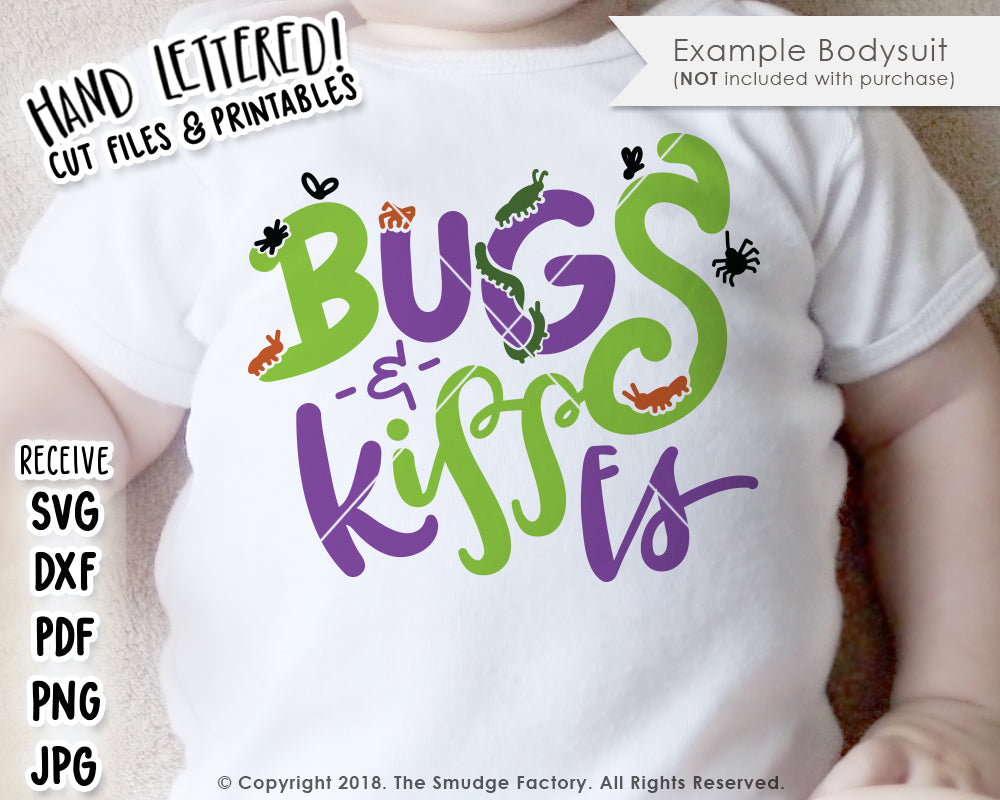 Bugs & Kisses SVG & Printable