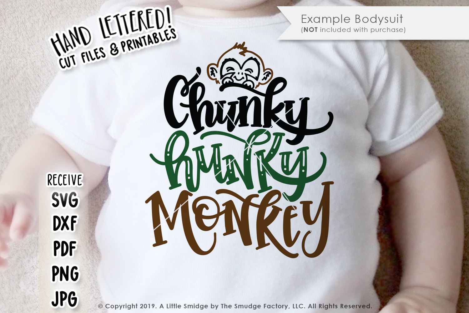 Chunky Hunky Monkey SVG & Printable