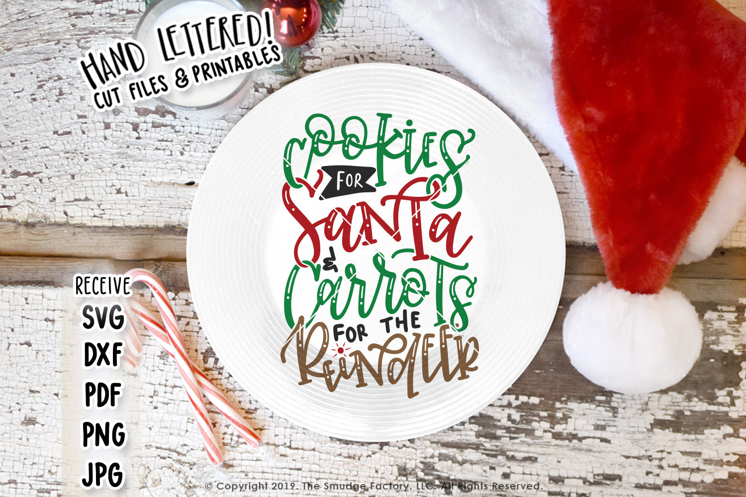 Cookies for Santa and Carrots For The Reindeer SVG & Printable