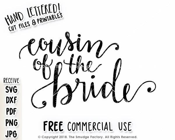 Cousin Of The Bride SVG & Printable