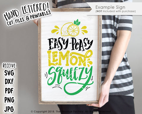 Easy Peasy Lemon Squeezy SVG & Printable