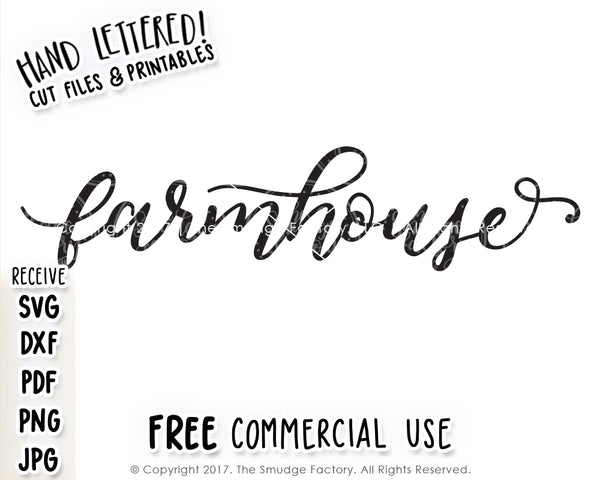 Farmhouse SVG & Printable