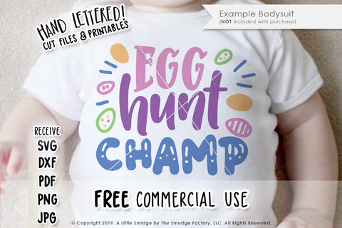 Egg Hunt Champ SVG & Printable