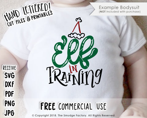 Elf In Training SVG & Printable